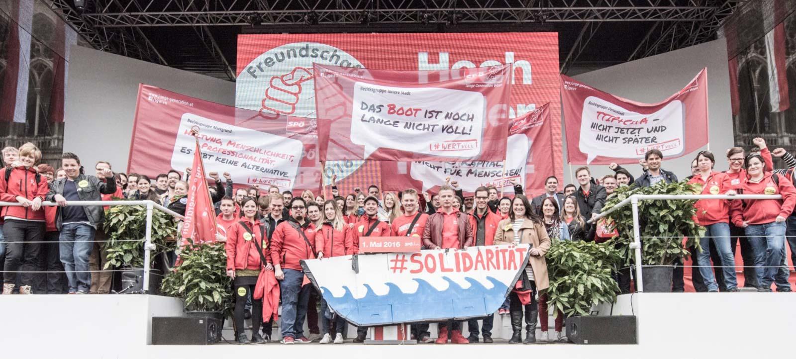 Junge Generation Wien am 1. Mai 2016