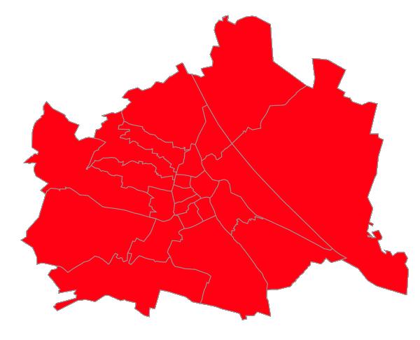 Wie Wien komplett rot wird.