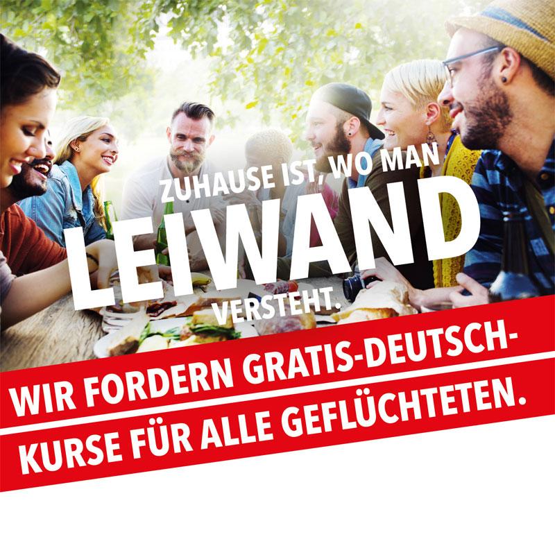 Deutsch-Kurse für alle Geflüchteten