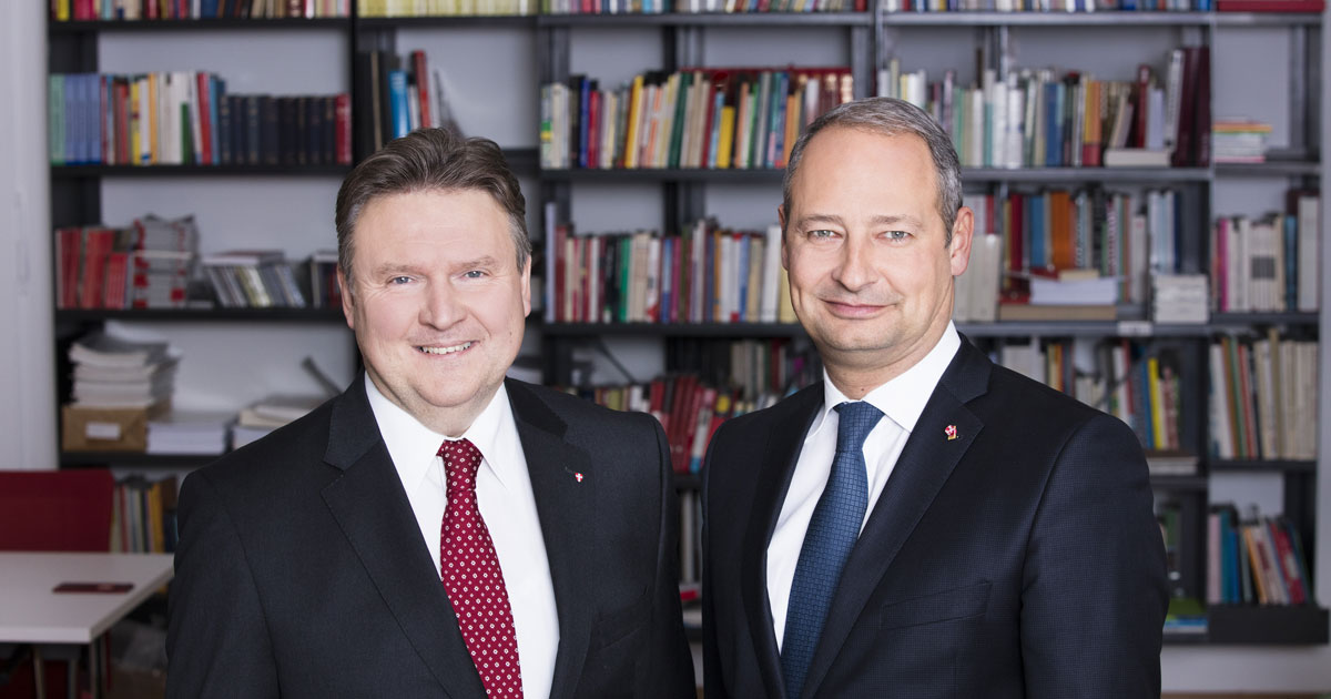 Landesparteitag - die Kandidaten Michael Ludwig und Andreas Schieder